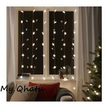 Ikea Strala Led String Light Curtain 48 Lights Indoor Outdoor Star