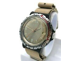 "VOSTOK ""Plastic"" Rare Vintage Men Watch USSR Mechanical Striped Сheckered Dial"