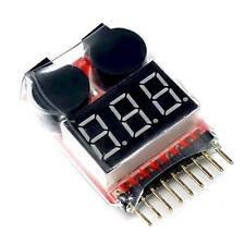 1-8S 2in1 RC Li-Ion Lipo Fe Batterie Niederspannungsmesser Tester Alarm FT