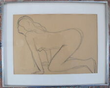 Fine Art Original Medium Nude Drawing, Joseph Konzal, signed