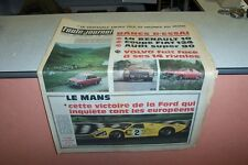 L AUTO JOURNAL N° 431 22 06 1967 RENAULT 10 COUPE FIAT 124 AUDI SUPER FORD MK4