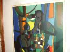 """MARCEL MOULY """"CHECKMATE""""EA PROOF 1973 H/S LITHOGRAPH"""