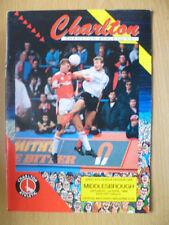 Teams C-E League One Charlton Athletic Football Programmes
