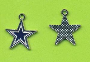 Stylish Dallas Cowboys Dangle Star Charm  For Bracelet Necklace Etc