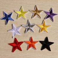 10Pcs Embroidery Iron Star On Patches For Clothing Appliques Sew On DIY Clothing