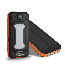 Universal 50000mAh Solar Akku Power Bank 2 USB 9LED Externer Batterie Ladegeräte