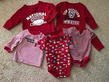 Carters Childrens Place Gerber Onesie Shirt  Bodysuit Boy Red 6-9 Months Lot