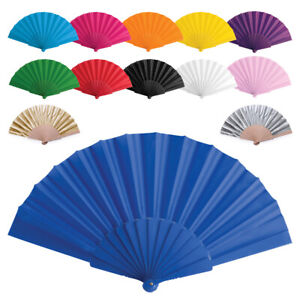 Handheld Pretty Hand Fan Wedding Party Accessory Favour Summer Plastic or Bamboo