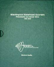 US Coin Album 50 Washington Statehood Quarters P&D 1999-2008 Quality + Slipcase