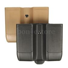 Double Pistol Magazine Pouch Plastic Belt Quick Draw Case Cartridge Clip Holder