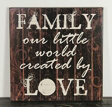 PRIMITIVE COUNTRY WOOD FAMILY SIGN HANDMADE INSPIRATIONAL HOME WALL DECOR 1429