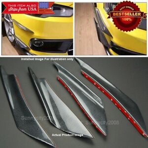 ABS Carbon Effect Splitter Fin Spoiler Wing Bumper Canard Diffuser for Chevy