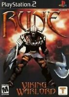 Rune: Viking Warlord PlayStation 2, PS2 Game Disc Only 20E Mature Rpg Fantasy