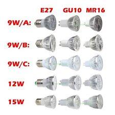 New E27 GU10 MR16 9W 12W 15W HighPower LED Energy Saving Lamp Bulb Spotlight Lot