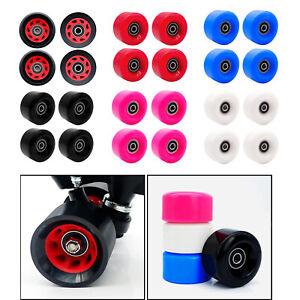 Set von 4 Rollschuhe Rad PU 58mm Skateboard Longboard Räder Zubehör