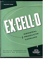 EX-CELL-O CO. XLO DETROIT GENERAL PRODUCTS CATALOG ANNI '50 MECCANICA INDUSTRIA