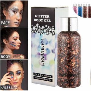 Glitter Sequins Hair Gel 30g Natural Face Color Eyeshadow Liquid Makeup Body USA
