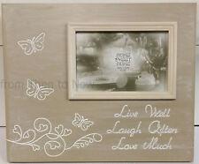 "Vivir bien reír a menudo Amor mucho De Madera 6 x 4 ""de pie marco de fotos Chic Shabby"