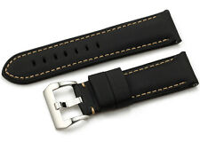 24mm Kevlar Echtes Leder Uhrenarmband/Armband Watch Band Strap für Panerai