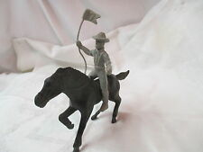 Vintage plastic Toy Horse & 7th Calvary Rider with Flag