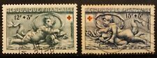 (1952) TIMBRES FRANCAIS - 2 VALEURS-TIMBRES OBLITERES *N°937/938