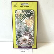 LARGE Ted Baker IPhone XS MAX Floral Full Case Cover Mirror Woodland