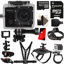 Vivitar DVR914HD 1440p Wi-Fi Waterproof Action Video Camera Camcorder Bundle