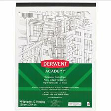 """Derwent Academy Tracing Paper Pad, Translucent, 40 Sheets, 9"""" x 12"""""""