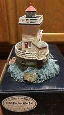 Mib Harbour Lights Lighthouse Cold Spring Harbor Ny #533 With Coa and Pin