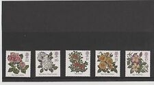 Set 5 GB Great Britain Stamps Roses 1991 Mint in folder