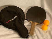 Butterfly Ping Pong Paddle With Yasaka Rubber And Butterfly Bag