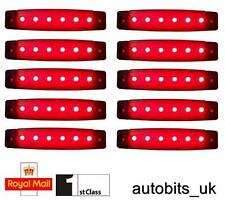 10 Pcs Set 12v Smd 6 Led Red Rear Side Marker Lamps Position Truck Trailer Lorry