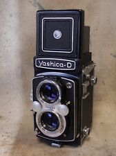 vintage YASHICA D tlr 120 6x6 Medium Format Film CAMERA w/ 80mm f/3.5 Lens