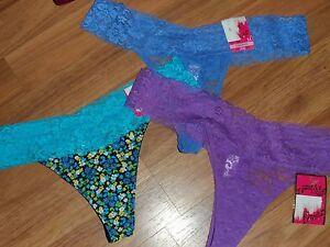 3  juniors  thong by Candie's (kohls)  ~ medium ~  nylon / spandex lace