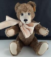 """STEIFF Original Teddy Bear 011054. Brown With Bow & Growler Voice. 14"""" 36cm"""