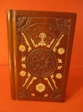 WOODEN BOX PENCIL HOLDER BOOK TRENCH ART US ARMY DATED 1940 1941 WW2