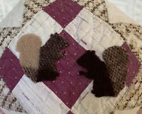 NEW Handmade Squirrels Pillow Vintage Quilt  Chenille Bedspread  Autumn Fall