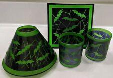 Yankee Candle~4 pc Set~Halloween Green & Black Bats ~Amazing Set