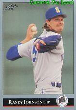 302   RANDY JOHNSON    SEATTLE MARINERS  BASEBALL CARD LEAF 1992
