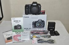 Canon EOS 5D Mark II 21.1 MP- Black, Body w/Box + Extras - Low Shutter Count!