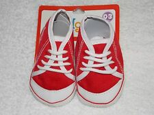 Kidgets Red Sneakers Shoes Unisex 0-3 Months New