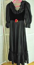 "KATI at LAURA PHILLIPS Vintage Evening Dress 36"" Bust 1970s Goth Steampunk Prom"
