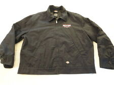 Men's Dickies Born To Truck Firestone Mechanics Garage Blue Work Jacket (XL)