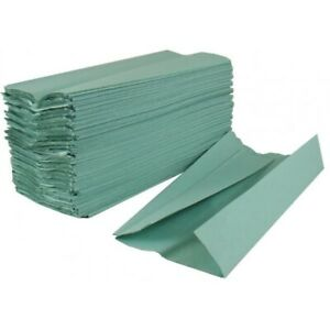 GREEN C FOLD Paper Hand Towels 1 Ply Multi Fold Tissues Toilet BATHROOM ANY QTY