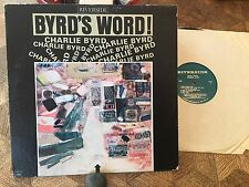 CHARLIE BYRD - Byrd's Word ~RIVERSIDE 448 w/Bobby Felder, Buck Hill, Phyfe >RARE