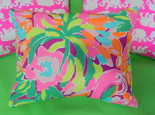New throw pillow made with LILLY PULITZER LULU Multi Garnet Hill fabric