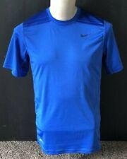 Men's NIKE Dri-Fit Short Sleeve T-Shirt Shirt Blue Medium M