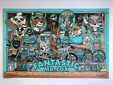 Tyler Stout Fantastic Mr. Fox variant edition Wes Anderson movie poster FMF art