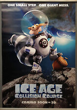 Cinema Poster: ICE AGE COLLISION COURSE 2016 (Scrat One Sheet) Simon Pegg