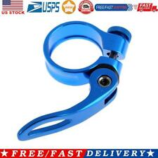 New listing 31.8mm MTB Bike Cycling Saddle Seat Post Clamp Quick Release QR Style Blue